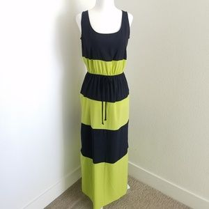 Dresses & Skirts - Navy Blue Striped Sleeveless Maxi Dress